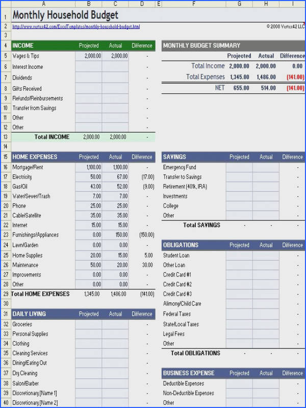 Download a free Household Bud worksheet for Excel Open fice or Google Sheets pare