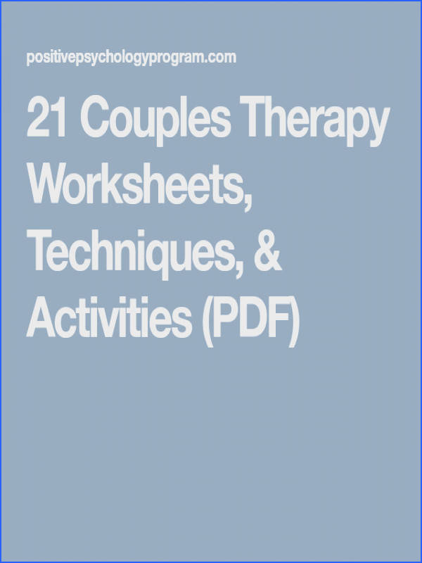 21 Couples Therapy Worksheets Techniques & Activities PDF Coupleactivities