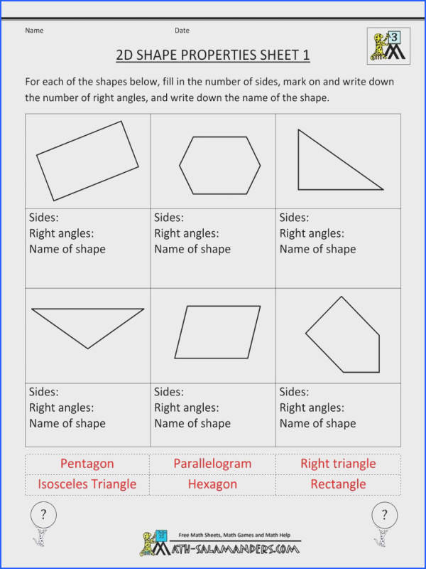 Here you will find our selection of free printable Geometry worksheets for graders There are a range of worksheets to help children identify and learn the