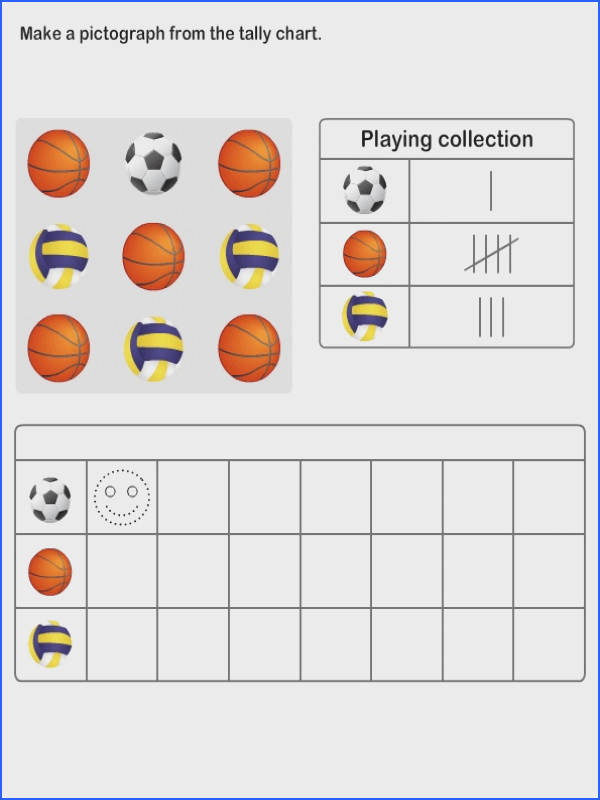 Practice Graph and Tally Chart Printable Pictograph Worksheets for Kids