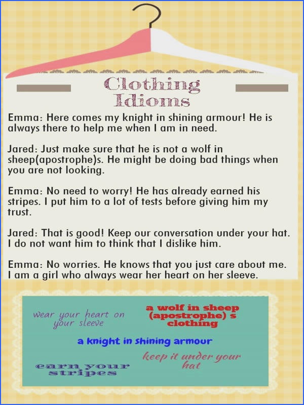 24 best Let s Talk About Idioms images on Pinterest