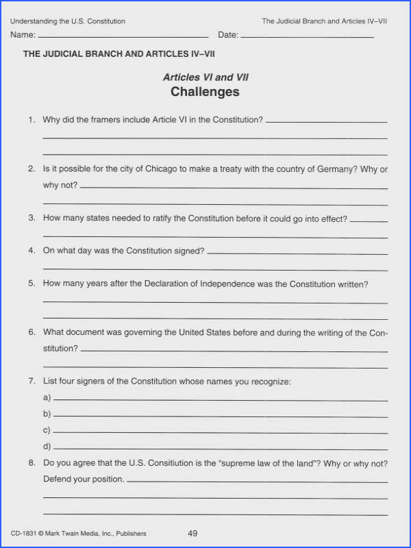 Ratifying the Constitution Worksheet Answers Awesome Products I1 Collection 25 Unique Ratifying the Constitution Worksheet