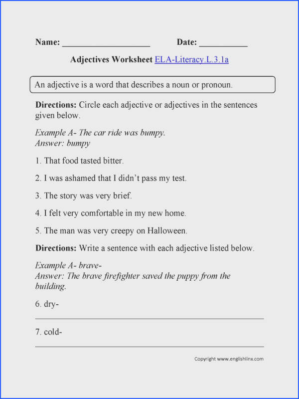 English Worksheets that are aligned to the Grade mon Core Standards for Language