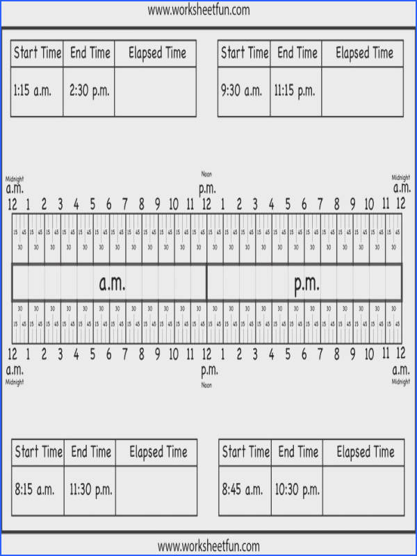 29 Best Elapsed Time Images On Pinterest Image Below Elapsed Time Worksheets