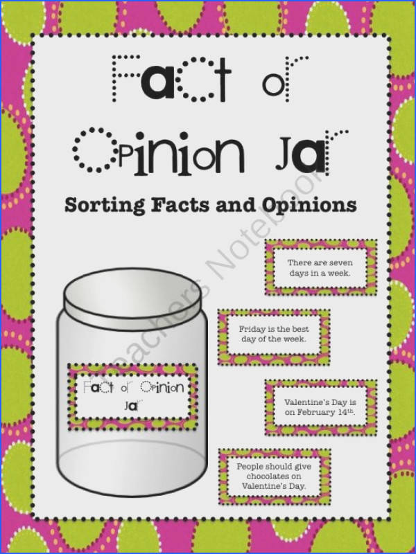 Fact or Opinion Workstation Jar product from aimeev on TeachersNotebook