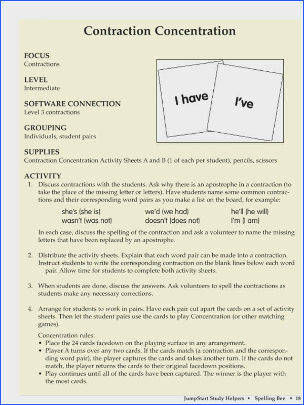 Lesson Plan contractions are essential in grammar and this lesson really outlines their uses well