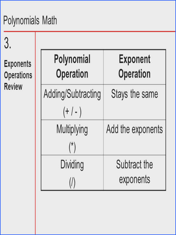 Subtract the exponents