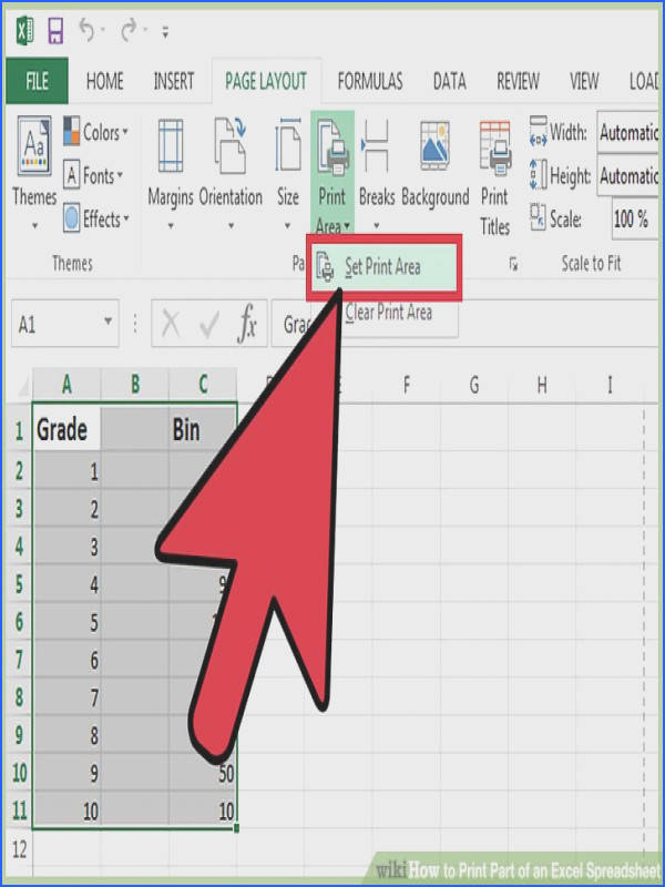 Image titled Print Part of an Excel Spreadsheet Step 9