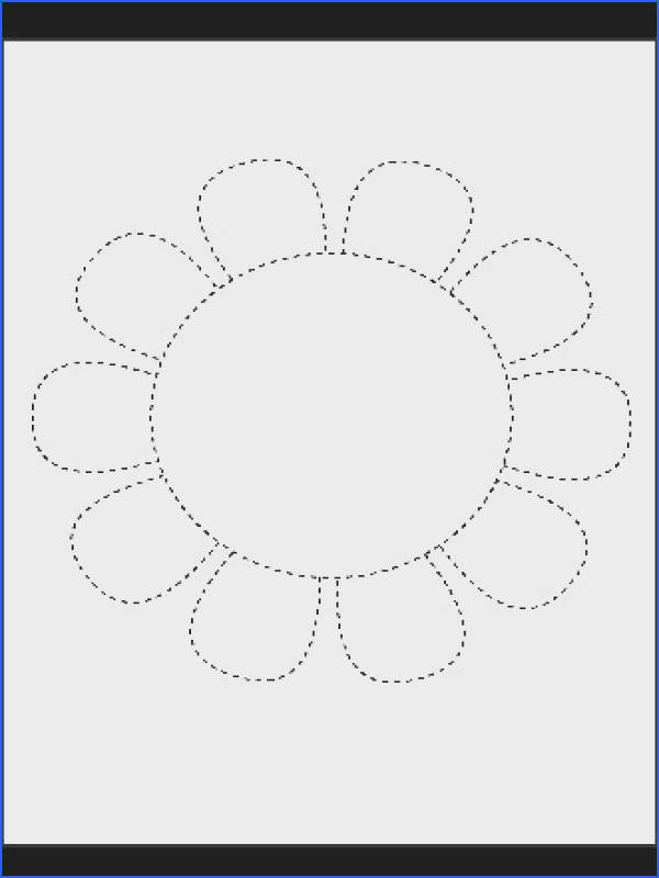 Picture Tracing Flower Lots of PDF s of different shapes good for coloring embroidery applique etc