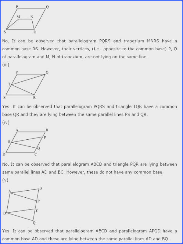 Area Parallelogram Worksheet Inspirational Ncert solutions for Class 9th Maths Chapter 9 areas