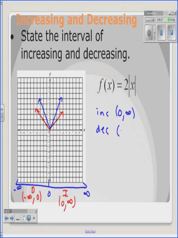 Solving Absolute Value Equations Worksheet Inspirational Absolute Value Increasing and Decreasing