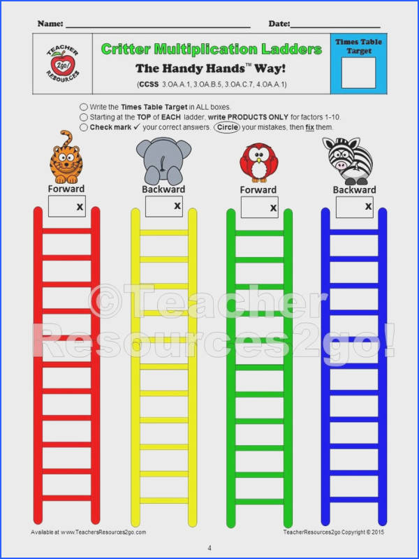 Worksheets for Multiplication In order for students to successfully master ALL basic times tables facts they will undoubtedly need to practice at