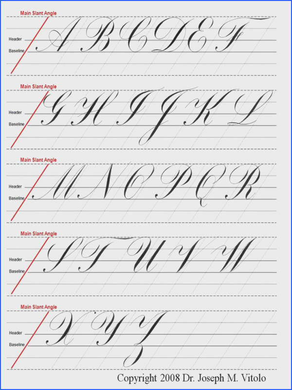 copperplate guidelines · Modern Calligraphy AlphabetCalligraphy