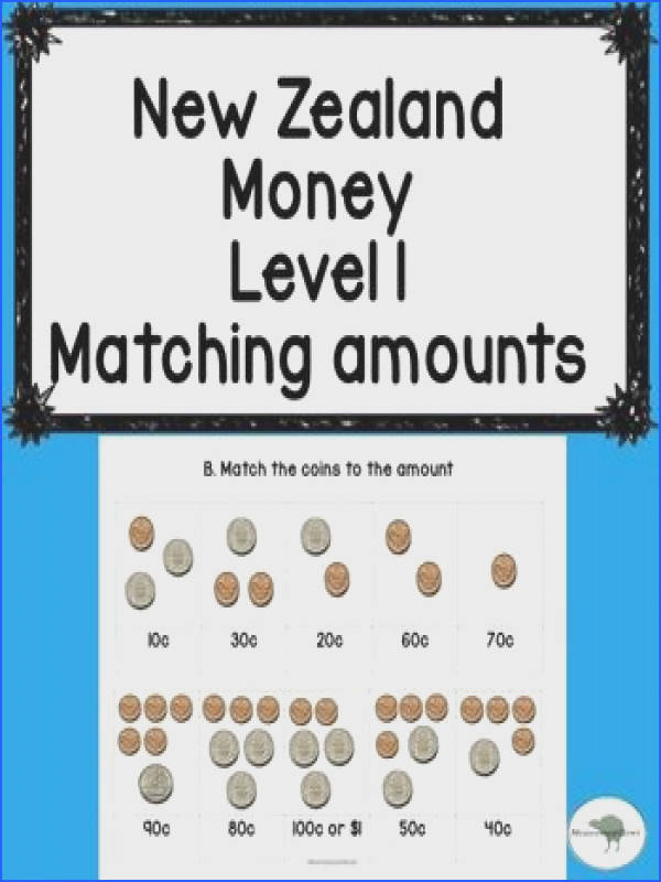 NZ Money match up activity Ideal for Years Level your class recognise NZ currency These 3 printables allow your students to match the written amount to