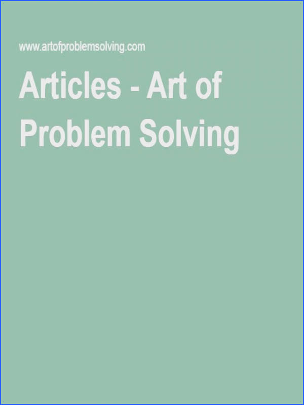 Articles Art of Problem Solving Test Strategies Avoiding errors silly mistakes