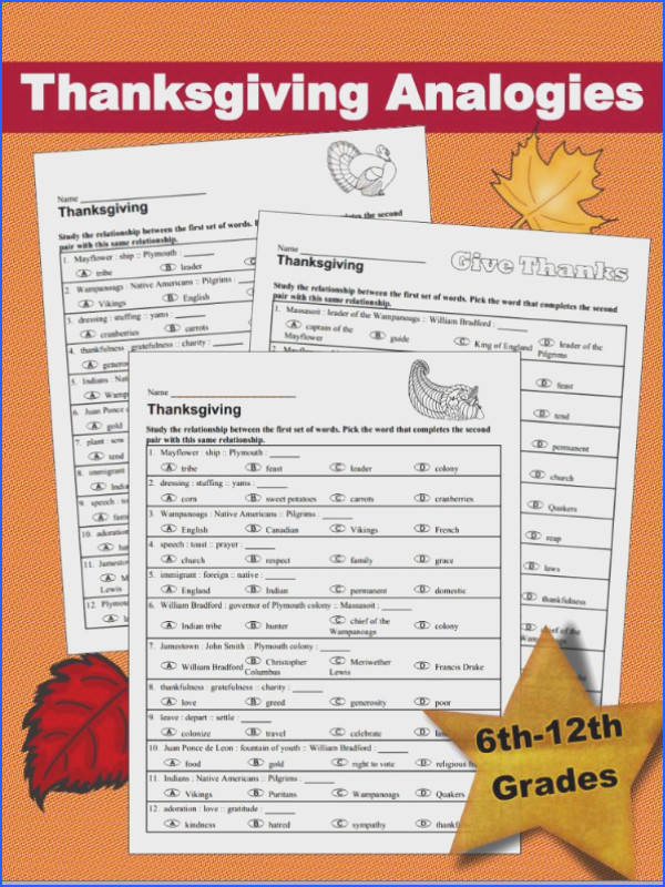 Working with analogies & using critical thinking skills so I& designed 3 Thanksgiving analogy worksheets to students to put on their thinking caps to