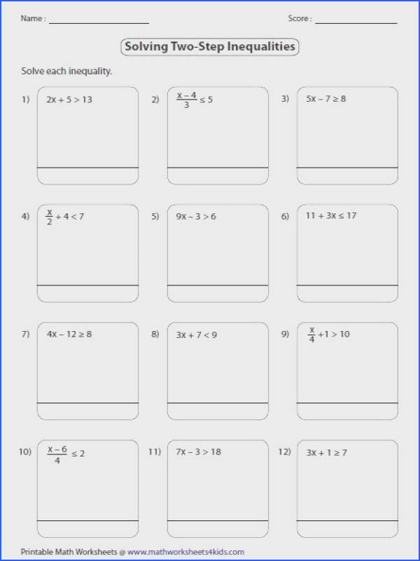 two step equations worksheet Google Search