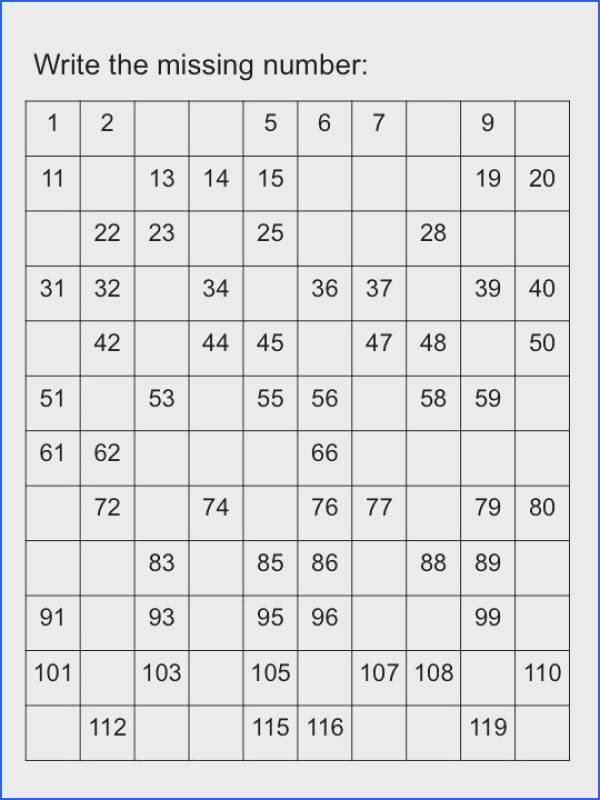 Missing Numbers I created worksheets to practice recognition of numbers There are exercises to Kindergarten MathTeaching MathTeaching IdeasSkip