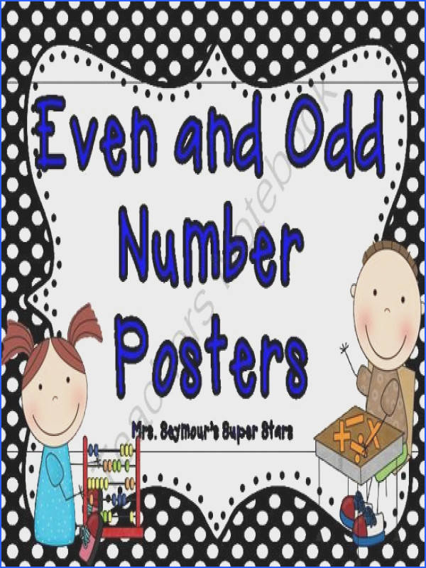 Even and Odd Numbers Poster Freebie from Mrs Seymours 1st Grade on TeachersNotebook