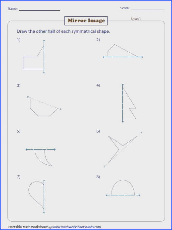 Symmetry worksheets have ample skills on drawing and recognizing lines of symmetry on shapes real life objects and letters