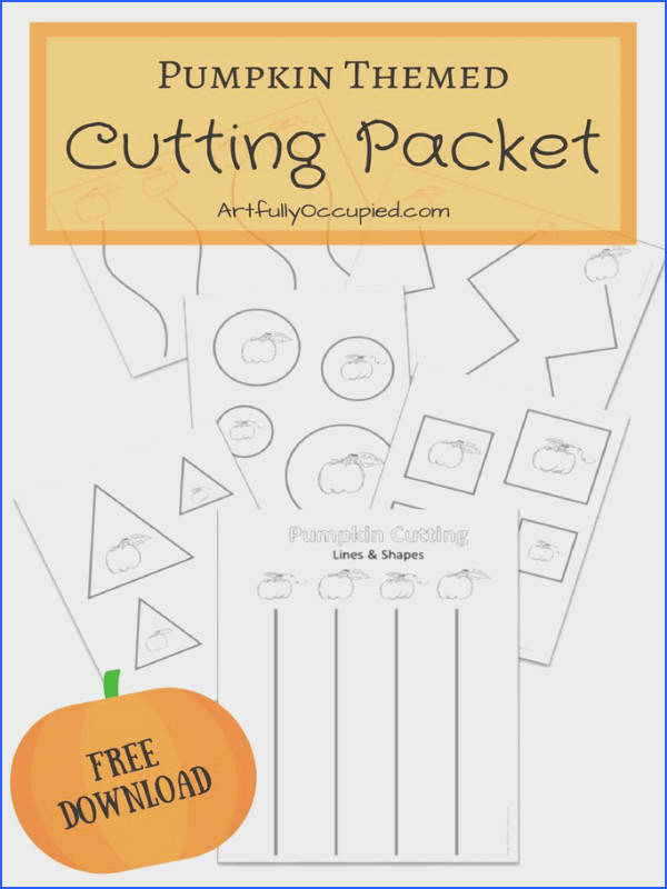 Fall Pumpkin Cutting Practice Packet Lines & Shapes