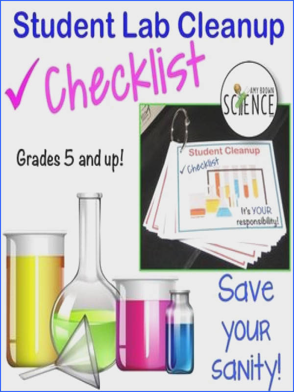 Lab Cleanup Task Cards Tired of the mess that students leave behind as they leave the