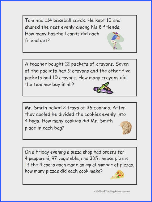 4 OA 3 Multi Step Word Problems FREE