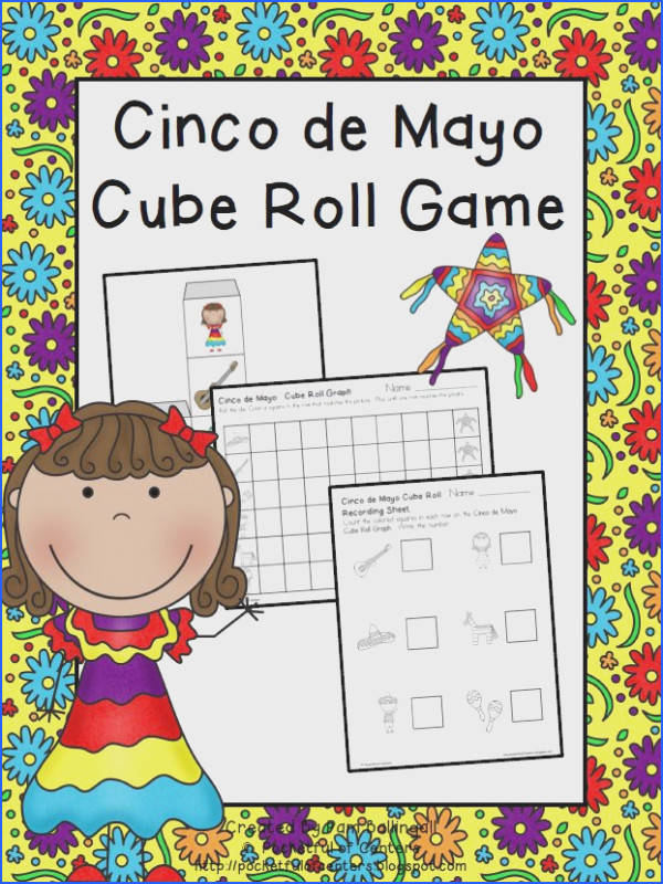 Cinco de Mayo Cube Roll Game great math center game