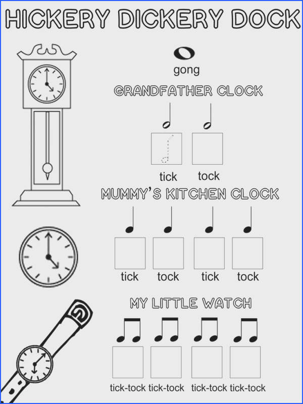 Free Music Theory Printable & Colouring Activity