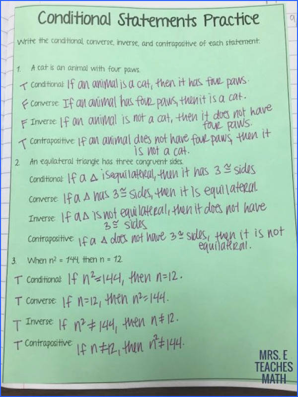 conditional statements practice for geometry interactive notebooks