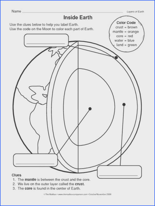 parts of the earth for kids coloring sheet Google Search