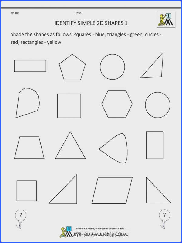 Here you will find our selection of First Grade Geometry worksheets for kids There are a range of worksheets to help children identify and name and shapes