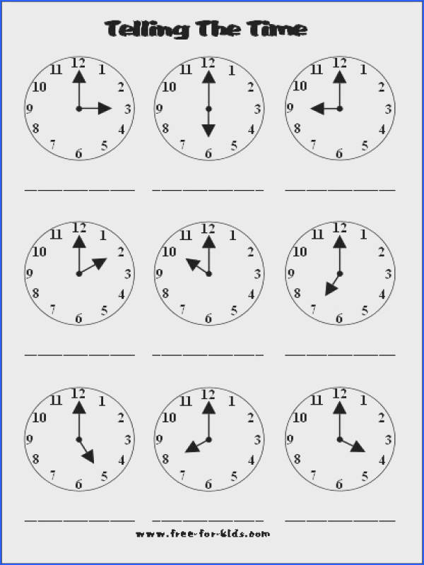 This is a good worksheet for graders or whatever is a good age for kids to tell time It gives them lots of examples for telling time