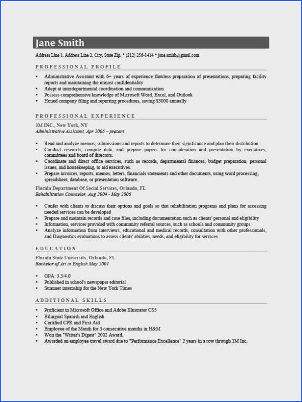 Resume Template Connery Gray
