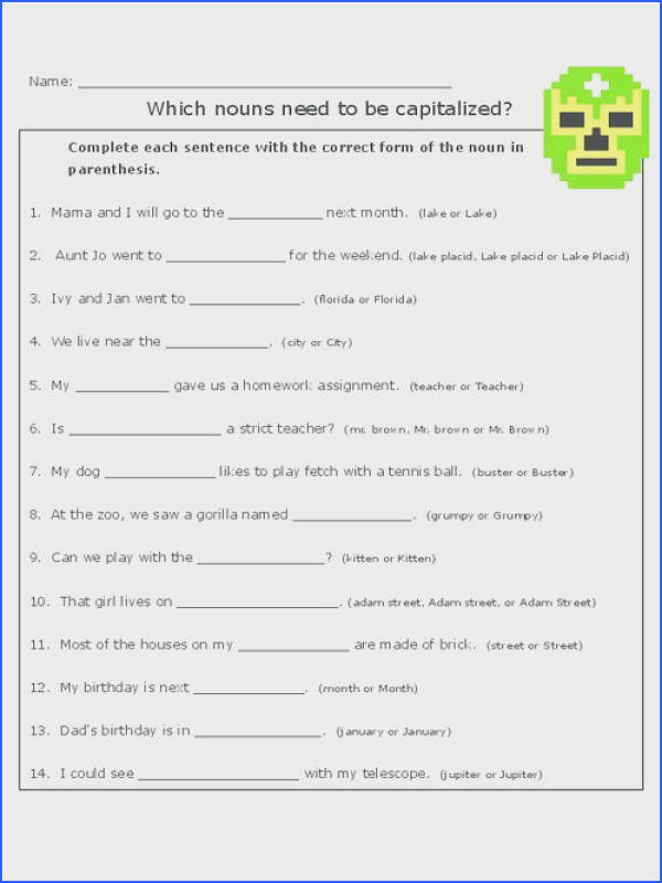 Practice proper capitalization with this free worksheet capitalization…