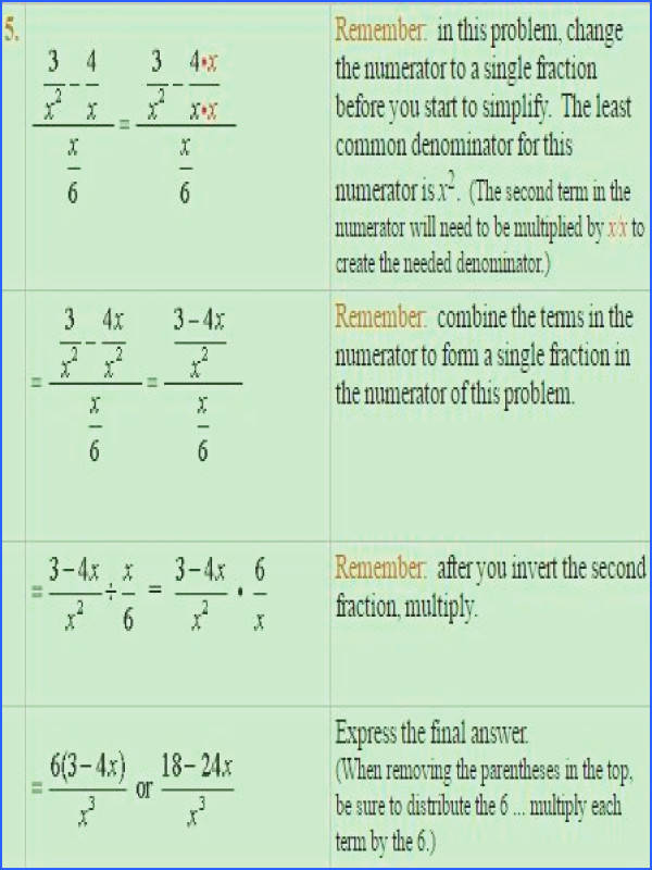 Simplifying plex Fractions simplifying numerator and denominator A Plus Topper s