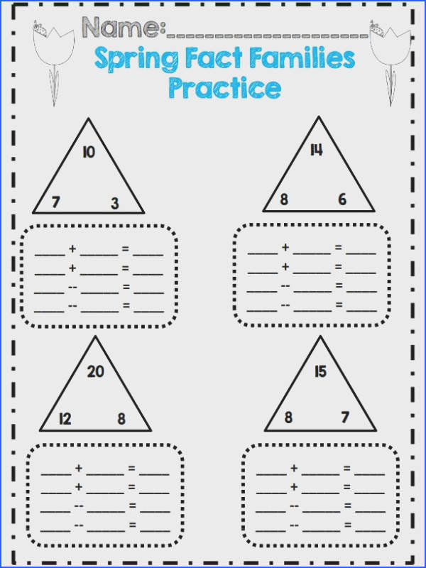 1st grade spring fact family activity mon core aligned 30 pages math and ELA
