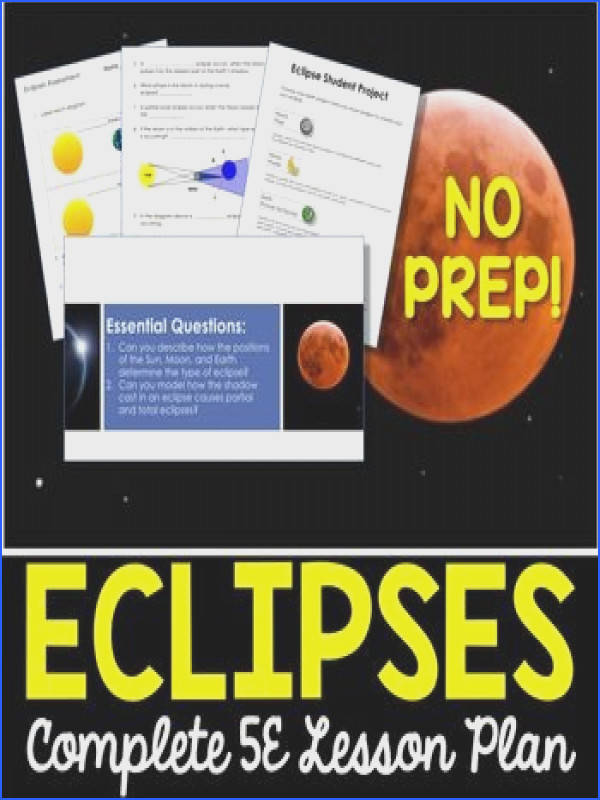 Eclipses Everything you need to teach a lesson on eclipses Each lesson plan follows