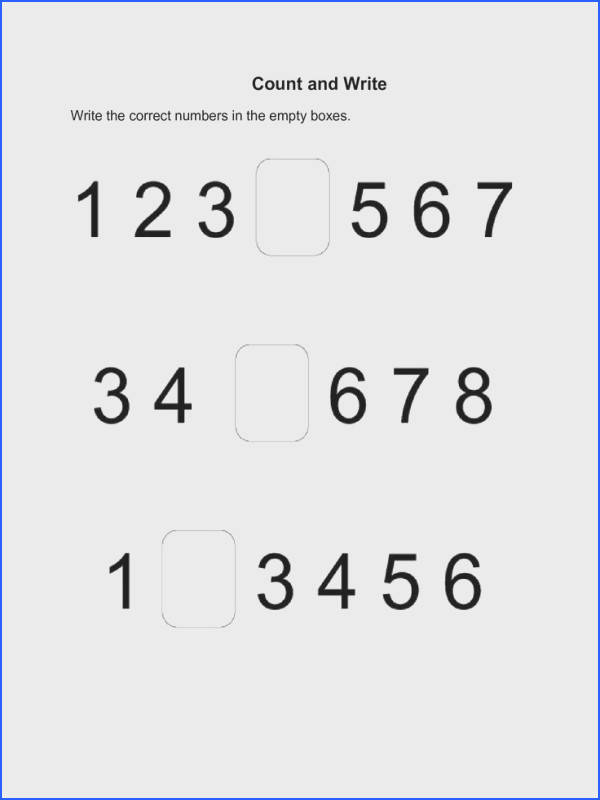 Fill in the Missing Number Activity and Pattern Recognition Worksheets