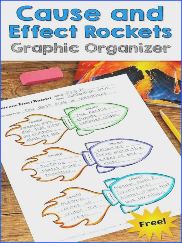 Awesome Cause and Effects Rocket graphic organizer freebie from Laura Candler s Graphic Organizers for Reading Teaching Tools Aligned with the mon Core