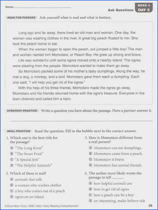 Transform 6th Grade Reading prehension Practice Test About Daily Reading Prehension Grade 2 Details Rainbow