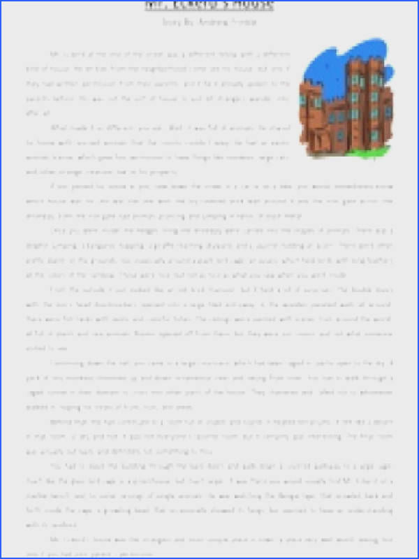 Inspiration 6th Grade Reading prehension Practice Test With Mr Eckerd S House Reading Prehension Worksheet