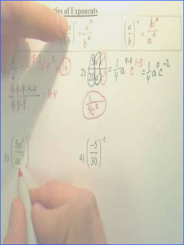 7 4 Division Properties of Exponents Algebra 1
