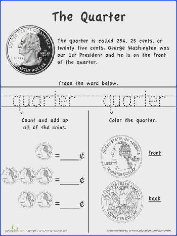 Learn the Coins The Quarter