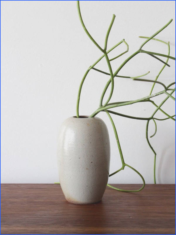 Wood fired pottery vase made by hand in Marshall NC