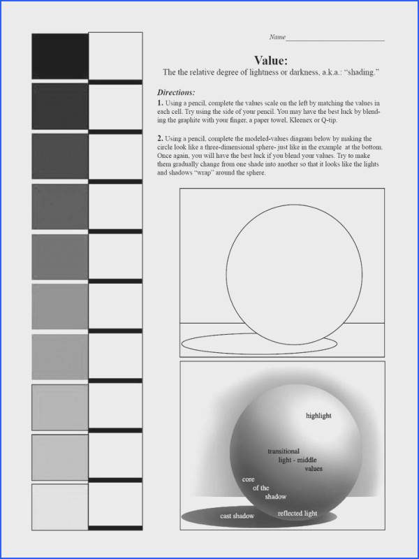 17 Best of Value Scale Drawing Worksheet Art Value Scale Worksheet Printable Value Scale Worksheet and Shading Value Scale in Art