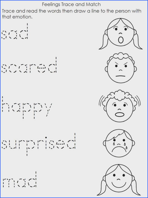 A Child s Place Feelings Worksheet