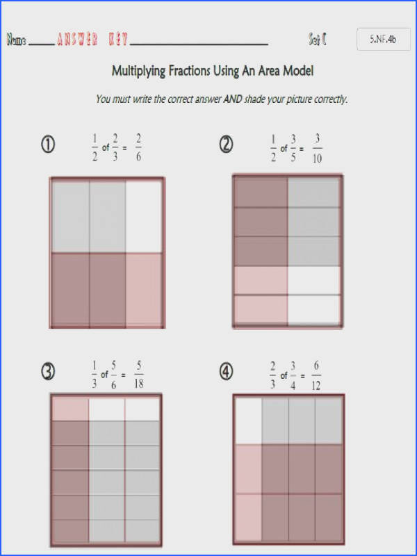 mon Core Math 5 NF 4b Fraction Multiplication with Area Models