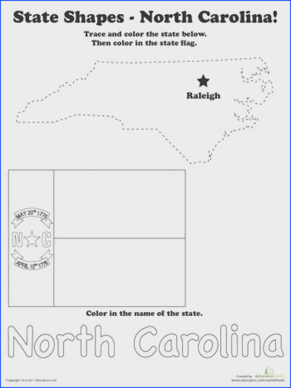 Trace the Outline of North Carolina