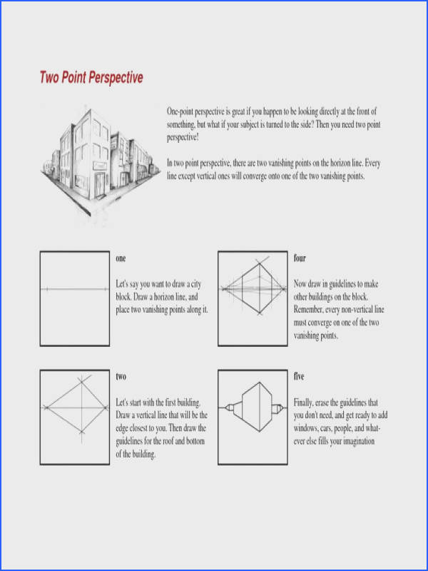 one=point perspective worksheets